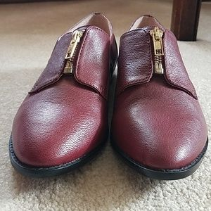 Sole Society Leather zip shoes NWOT
